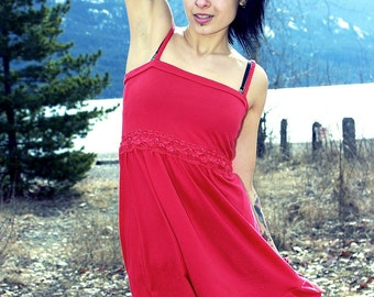 Red Organic Braided Lacey Dress -- Pre-Made -- SALE