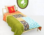 Twin Bedding , Quilt , Child Bedding Set Hula Hula