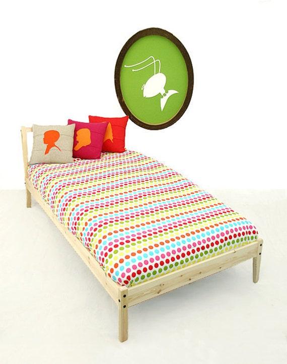 Sheet , Twin Fitted Sheet , Children Bedding Gum Drops
