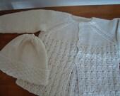 Newborn Baby Bamboo Cardigan and Beanie Gift Set
