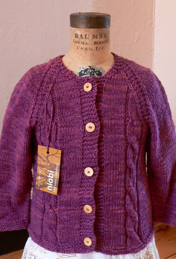 Organic cable Jersey size 3-4yrs and various smaller sizes - more colors made to order