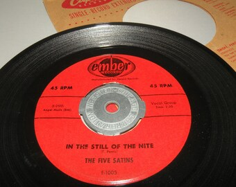 1956 The Five Satins In the Still of the Night and The Jones Girl Number E-1005