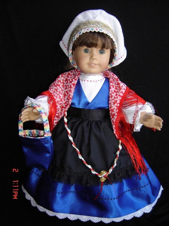 AMERICAN GIRL  SLOVENIAN  COSTUME