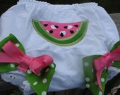 watermelon bloomers, 1st birthday bloomers, 2nd birthday bloomers, watermelon birthday bloomers, pink watermelon, one in a melon