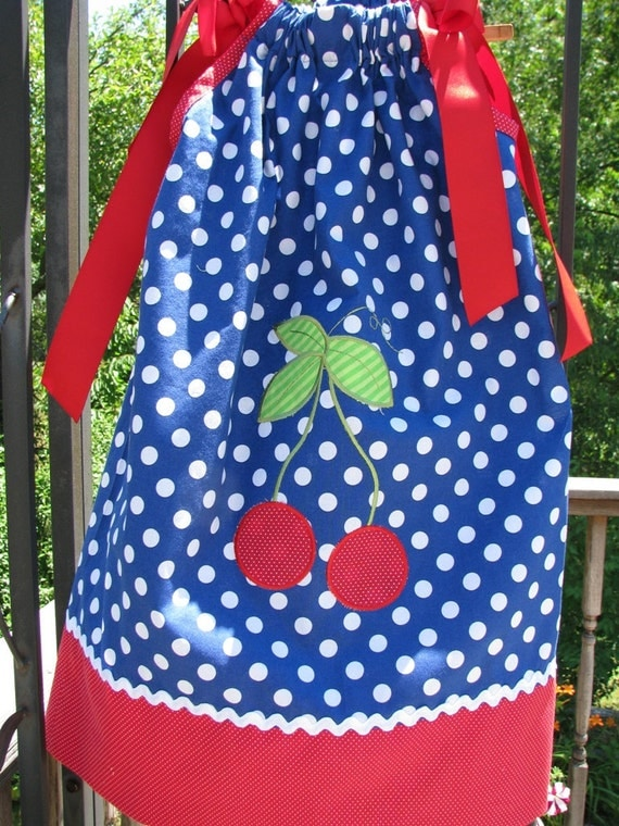 sample sale half off size 18 months ONLY Cherry and frog pillowcase dress