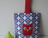 Children's Little red owl tote bag / lunch bag