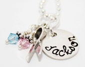 Pregnancy and Infant Loss Ribbon and Charm Pendant