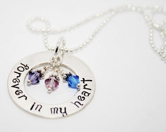 One Inch Forever in My Heart - Rememberance Necklace