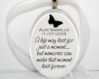 Just a Moment  Glass Christmas Ornament