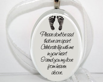 Celebrate Life with me in your Heart - Oval Glass Christmas Ornament