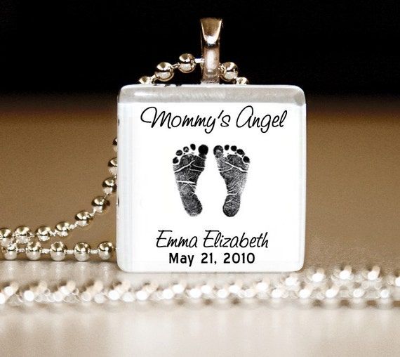 Mommy's/Daddy's Angel -- Glass Tile Pendant