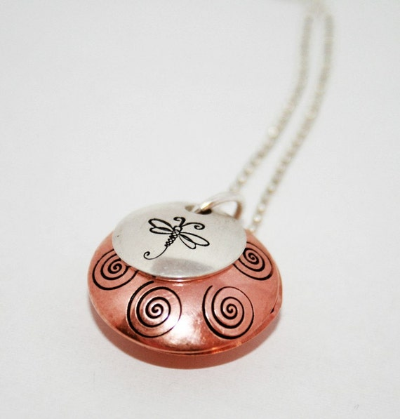 Never Forgotten - Copper and Silver Locket