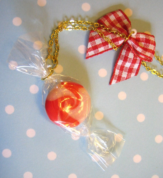 SUPER SALE Strawberries & Cream Necklace