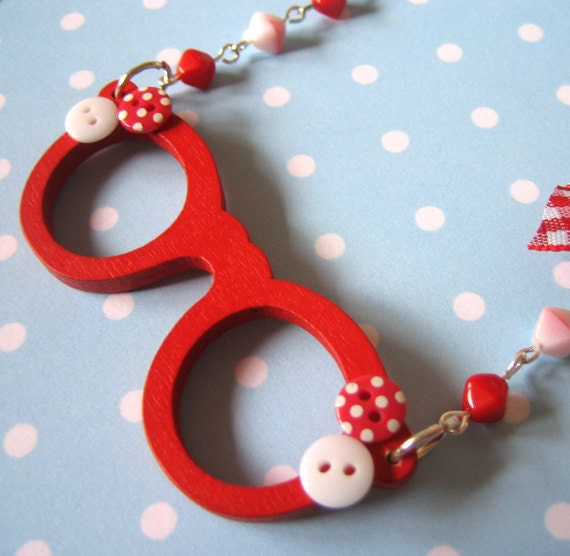 Rockabilly Red Specs Necklace