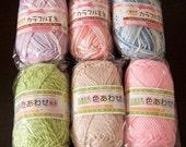 Japanese Antibacterial Variegated Tawashi Yarn - The Yarn - Purple Pink Blue Green