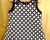 Black and White Couture Jumper-Dress