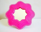 Hot Pink Accent Mirror