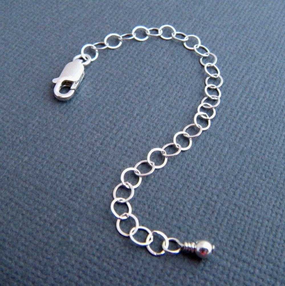 Extension Chain 4 Inch Sterling Silver Necklace Extender