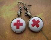 Rescued  XIII- Steampunk Earrings - Repurposed art