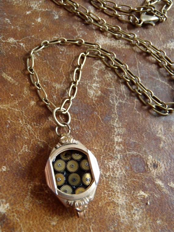 Bits and Pieces - Steampunk Necklace - Repurposed Art