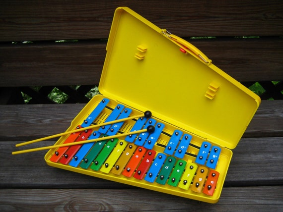 Xylophone in yellow case