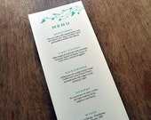 Printable Wedding Menu - Beetle