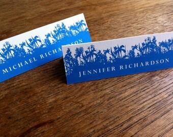 Printable Place Cards - Place Card Template - Instant Download - Place Card PDF - Royal Blue - Botanical - Wedding Escort Card - DIY PDF
