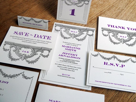Printable Wedding Invitations Kits: Printable Wedding Invitation Kit Wedding Printables DIY