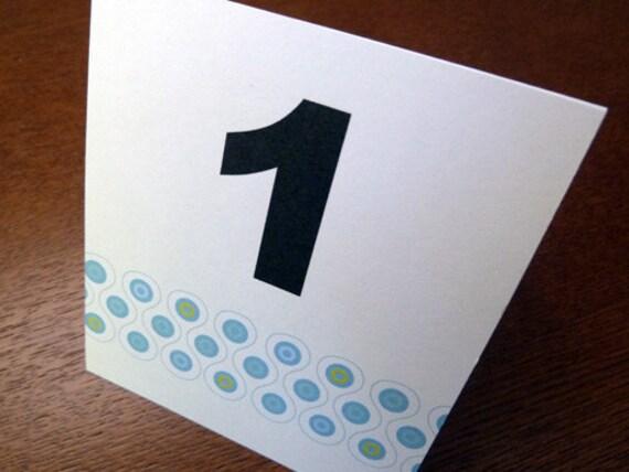 Printable Table Number - Table Number Template - Instant Download - Wedding Table Number PDF - Blue, Teal & Black - Mod Pattern Download