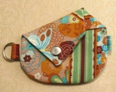 15-30% OFF WITH CODE - Origami Coin Purse - Mariposa collection Green and Tan 10324