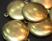 Small Raw Brass Round Plain Lockets - 20mm - 20 pcs  (No Coupons Allowed)