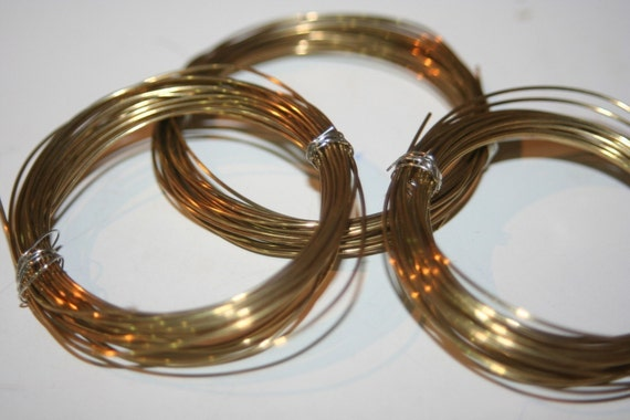 Bendable Raw Brass Wires - 10 feet  - Gauge 20