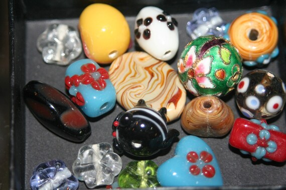 Handmade Lampwork Beads - ONLY 1 LOT AVAILABLE - 17 pcs
