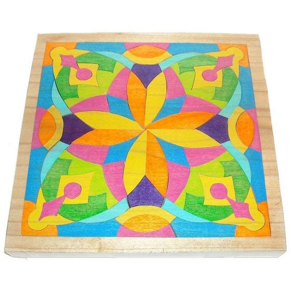 Mosaic Puzzle - Waldorf Toy - Energy