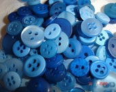 100 Pack Buttons Blue