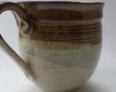 Rustic Stoneware Ceramic Batter Bowl - brown tan - 4 cup Mixing Bowl