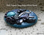 Pook's Fancy Turquoise Abstract Brooch