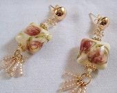 Chintz Rose Earrings