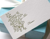 Letterpress Gift Tags- set of 8