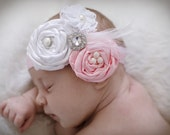 Baby headbands..baby headband..hair bows....see STore The Ella Grace..Vintage inspired Newborn Headband...baby hair bows