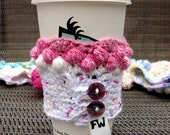 Multi-Colored Pink Cupcake Coffee Cozy