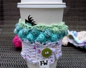 Green and Blue Cupcake Coffee Cozy