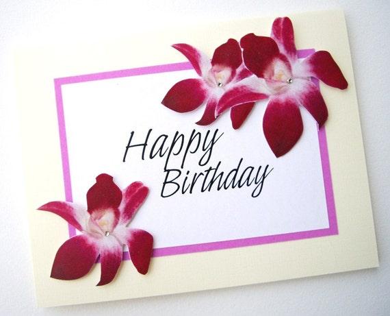 Happy Birthday - Orchid Flower