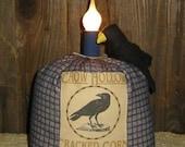 Reproduction Feedsack Crow Lamp Epattern, PDF, Downloadable Digital Pattern