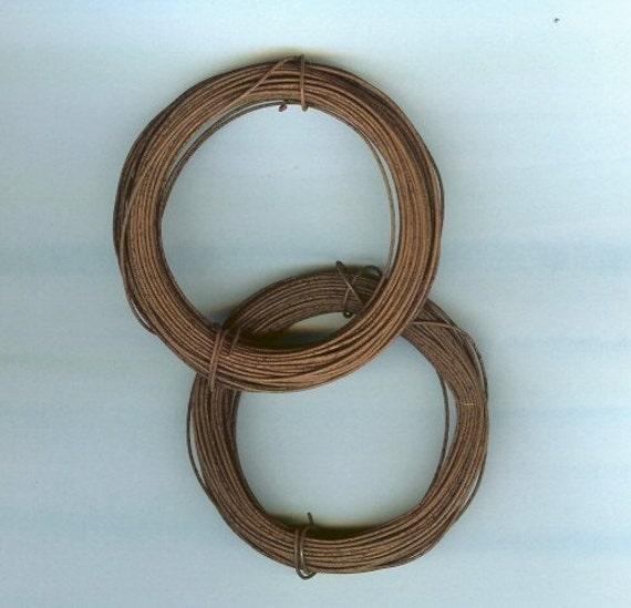 Rusty tin craft wire 22 gauge 2 bundles of 30 feet for 22 gauge craft wire