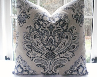 Throw and Lumbar  Decorative Designer  Pillow Cover--Medallion -Purple Throw / Lumbar Pillow -Deep Purple -Mauve - Ivory-Cream