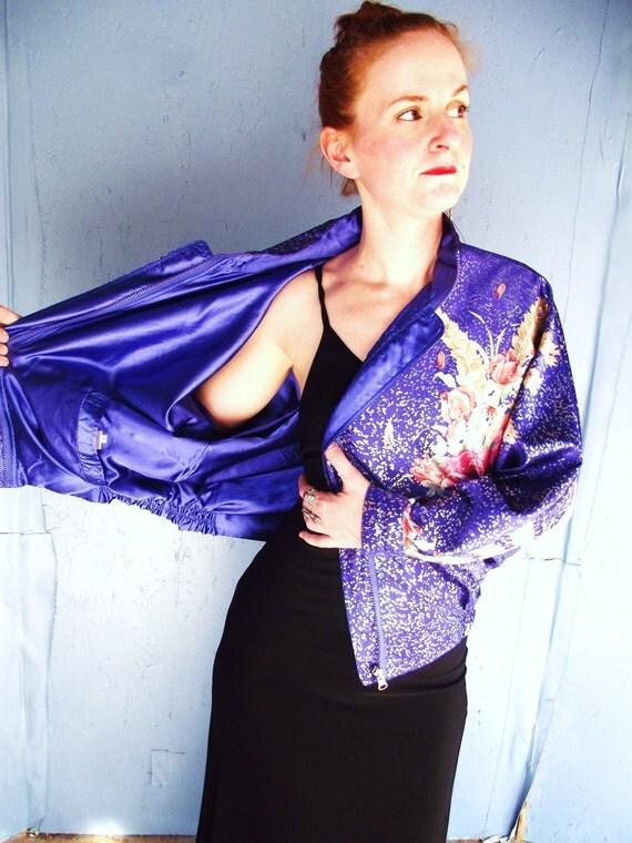 Vintage Kimono Bomber Jacket Reversible