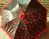 Black Vampire Parasol Red Bat Moon Twilight Bella Umbrella