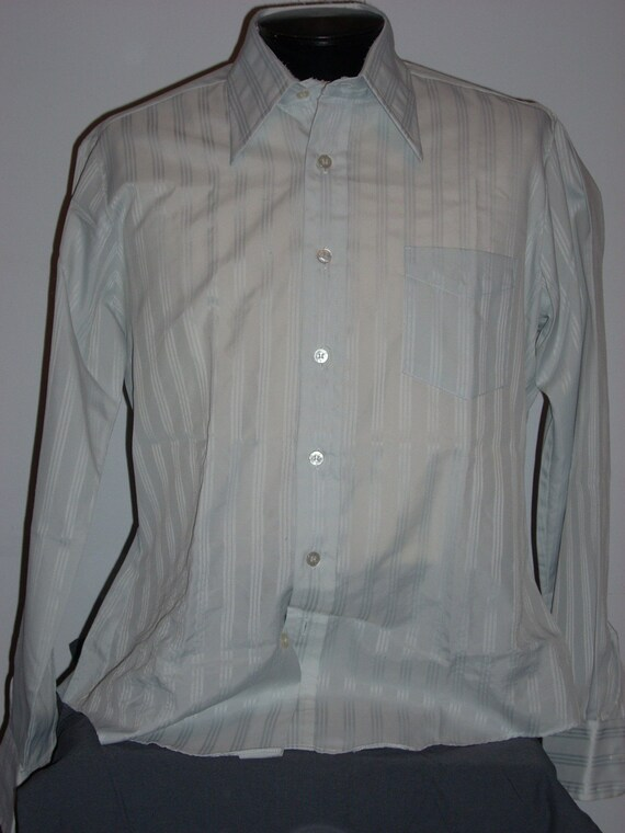 Vintage polyester button down shirt with by asburyparkvintage for Polyester button up shirt