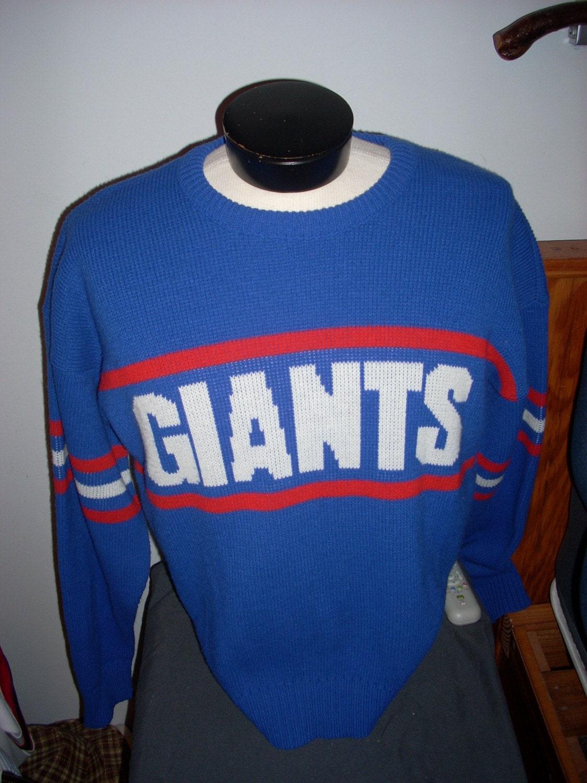 Ny Giants Vintage Sweater - Sweater Tunic
